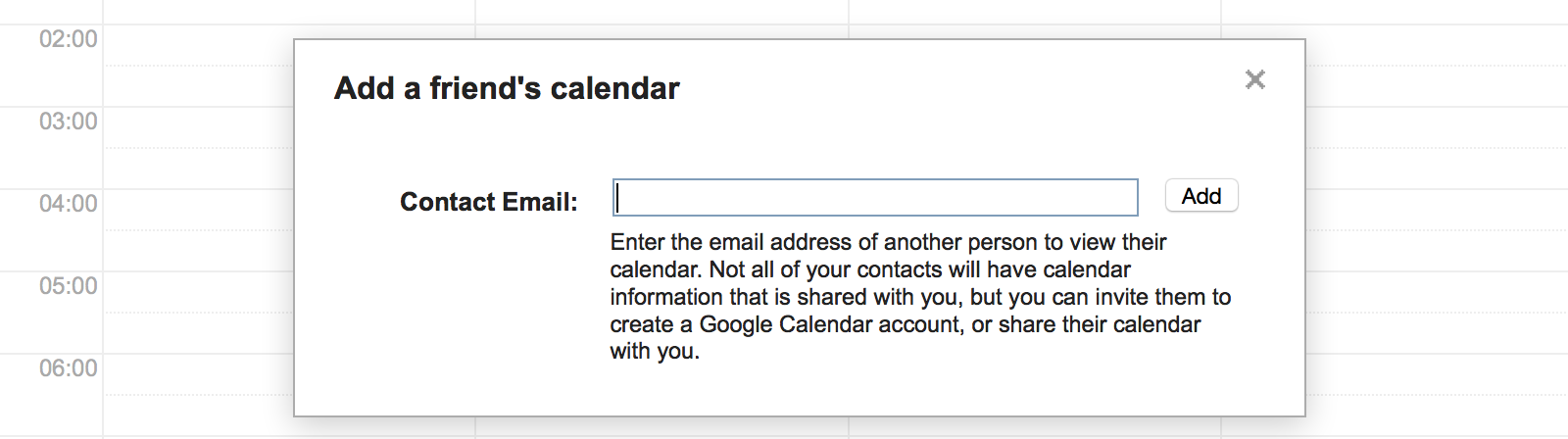See other people's Google Calendar