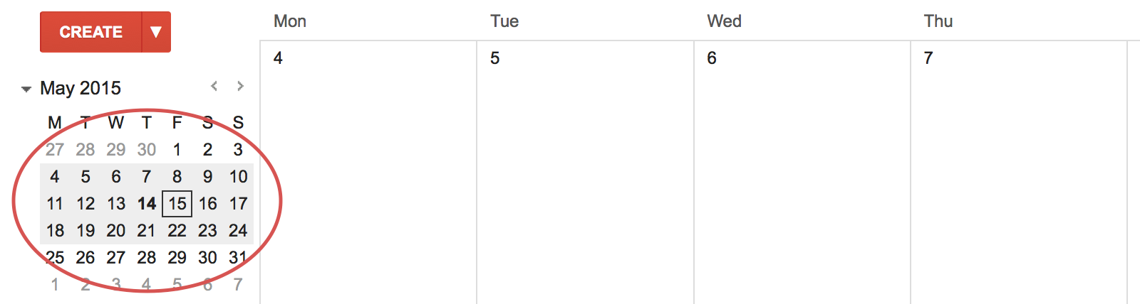 Mini Calendar Custom view for Google Calendar