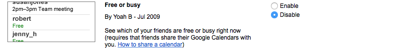 See who is free or busy in Google Calendar
