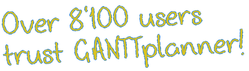 Over 5,600 users trust GANTTplanner!